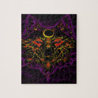 Mythical Neon Purple Wolf Jigsaw Puzzle