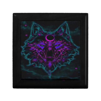 Mythical Neon Teal Wolf Gift Box