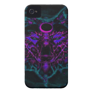 Mythical Neon Teal Wolf iPhone 4 Cover