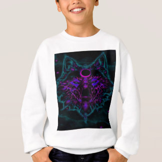 Mythical Neon Teal Wolf Sweatshirt