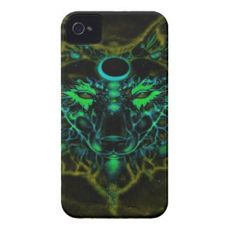 Mythical Neon Yellow Wolf iPhone 4 Case-Mate Case