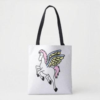 Mythical Pegasus Flying Horse Tote Bag