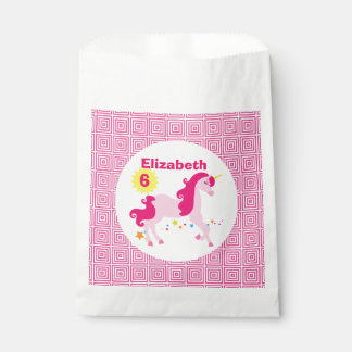 Mythical Pink Unicorn Birthday Party Favour Bags
