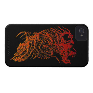 Mythical Red Dragon Design iPhone 4 Case