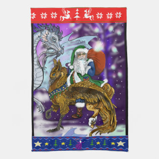 Mythical Santa Clause Tea Towel