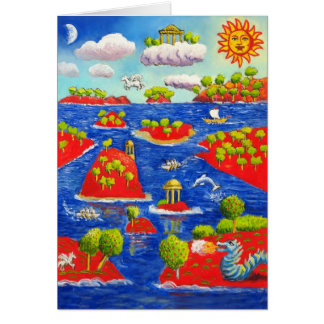 Mythical Willow Pattern Greeting Card