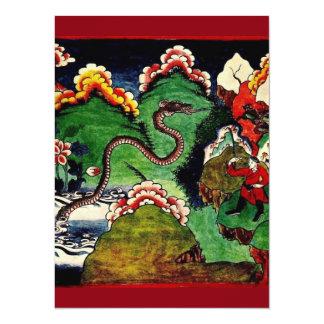 Mythological Dragon 14 Cm X 19 Cm Invitation Card