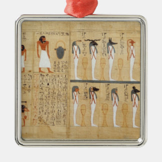 Mythological papyrus of Imenemsaouf Metal Ornament