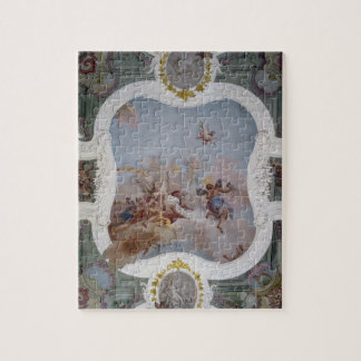 Mythological Scene with the Zodiac (fresco) Jigsaw Puzzle