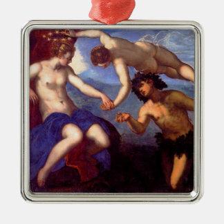 Mythological Venus Silver-Colored Square Decoration