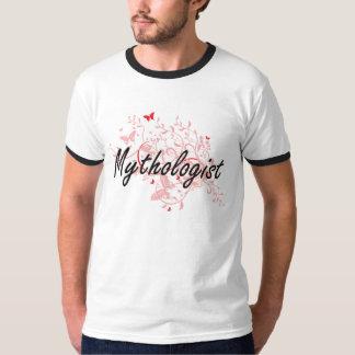Mythologist Artistic Job Design with Butterflies T Shirt