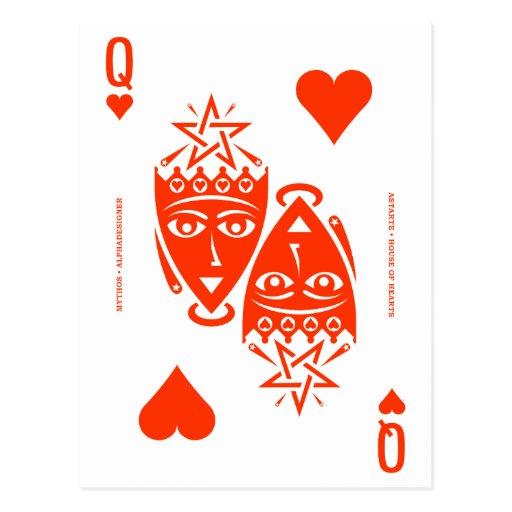 Mythos Astarte Queen of Hearts Postcards