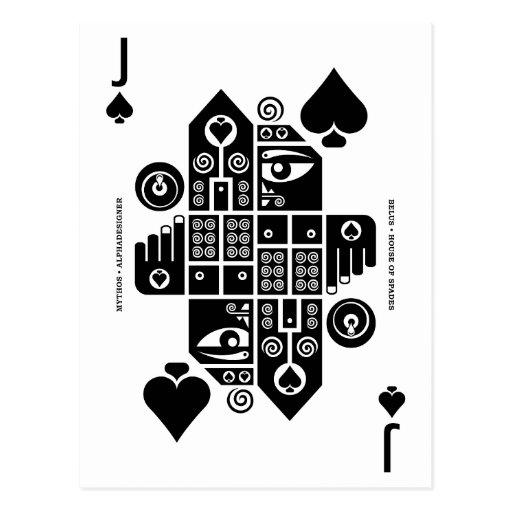 Mythos Belus Jack of Spades Post Cards