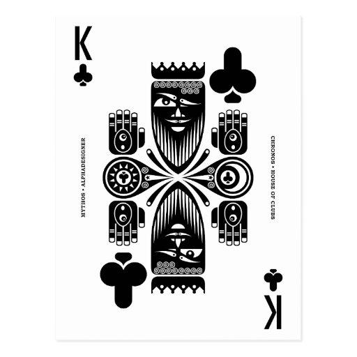Mythos Chronos King of Clubs Post Card