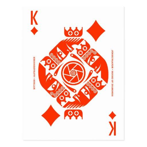 Mythos Jormungandr King of Diamonds Post Cards