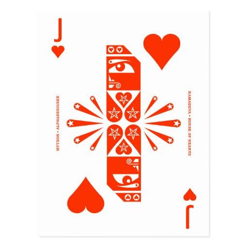Mythos Kamadeva Jack of Hearts Post Cards