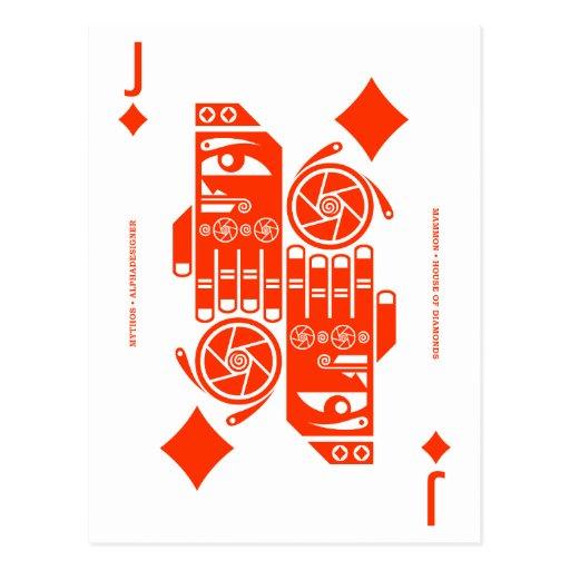 Mythos Mammon Jack of Diamonds Post Cards