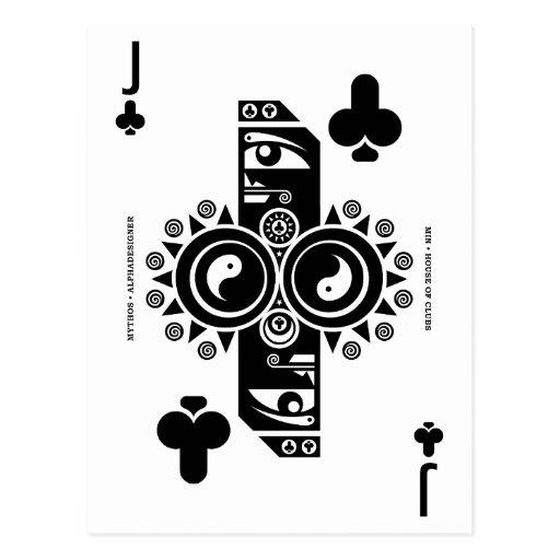 Mythos Min Jack of Clubs Post Card