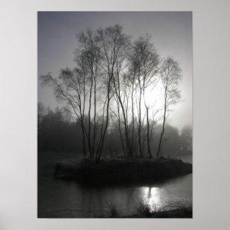 Mytic dusk in a frozen world poster