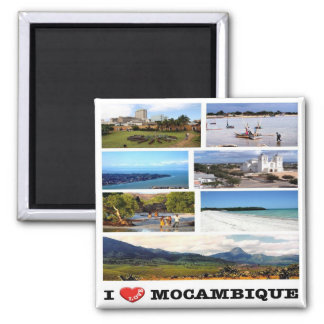 MZ - Mozambique - I Love - Collage Mosaic Magnet
