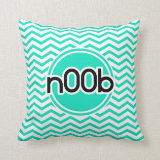 n00b Aqua Green Chevron Throw Pillows
