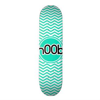 n00b Aqua Green Chevron Skate Decks