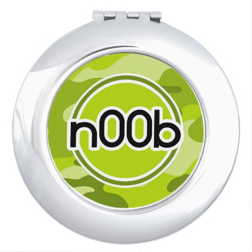 n00b; bright green camo, camouflage vanity mirrors