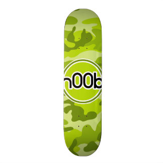 n00b; bright green camo, camouflage skate boards