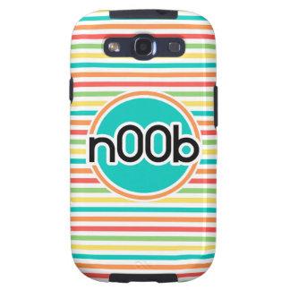 n00b, Bright Rainbow Stripes Galaxy S3 Cases