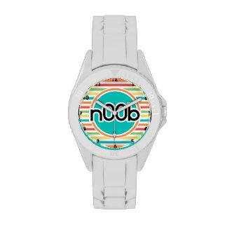 n00b, Bright Rainbow Stripes Wristwatch