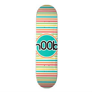 n00b Bright Rainbow Stripes Skate Boards