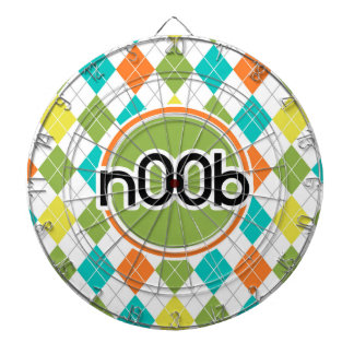 n00b Colorful Argyle Pattern Dartboard