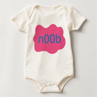 """""""n00b"""" girl baby bodysuit"""