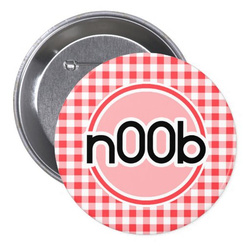 n00b; Red and White Gingham Buttons