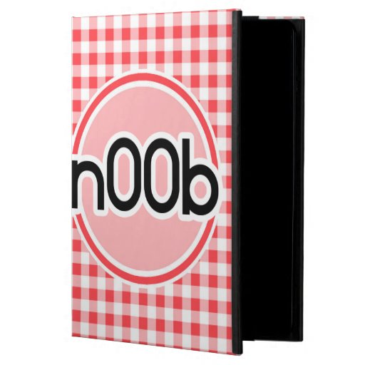 n00b; Red and White Gingham iPad Air Covers