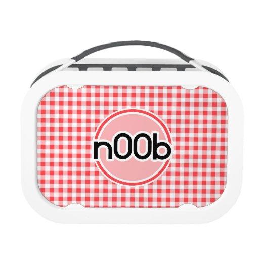 n00b; Red and White Gingham Yubo Lunchbox