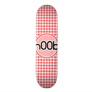 n00b; Red and White Gingham Skate Board Deck