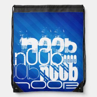 n00b; Royal Blue Stripes Drawstring Bag