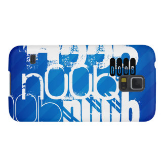 n00b; Royal Blue Stripes Galaxy S5 Cases