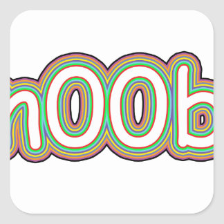 n00b square sticker