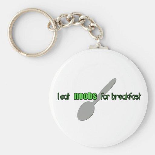 N00bs for Breakfast Keychain