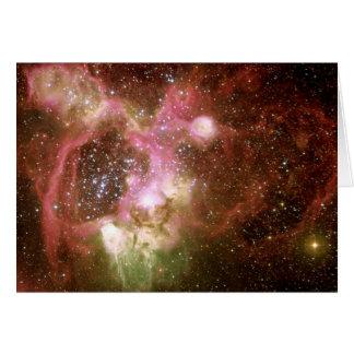 N44 Emission Nebula Greeting Card