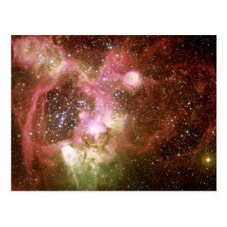 N44 Emission Nebula Postcard