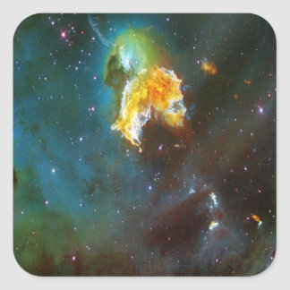 N63A Lady of the night sky Square Sticker