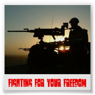n743025406_146189_8527, FIGHTING FOR YOUR FREEDOM Poster