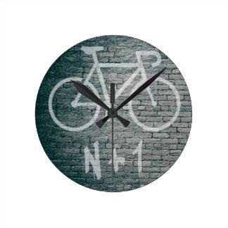 N+1 Bike Graffiti Round Clock