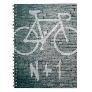 N+1 Bike Graffiti Spiral Notebook