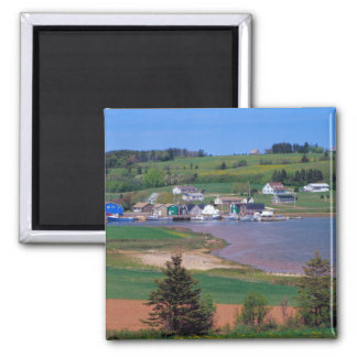 N.A. Canada, Prince Edward Island. Boats are Square Magnet