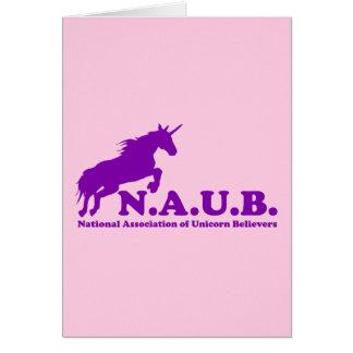 N.A.U.B Unicorn Believers Greeting Card