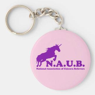 N.A.U.B Unicorn Believers Basic Round Button Key Ring